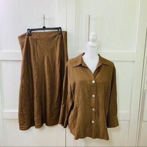 Women's linen two piece set